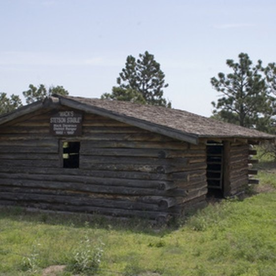 A typical rustic cabin