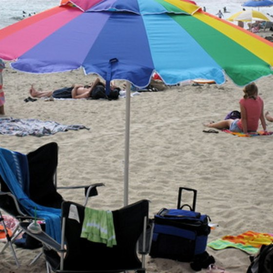 Beach umbrellas come in a wide range of types, colors and prices.