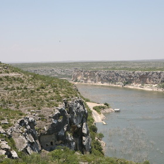 The Rio Grande cuts its way through Big Bend's rugged terrain.