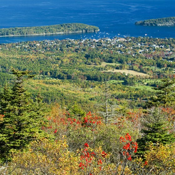 A view of Bar Harbor from Cadillac Mountain.
