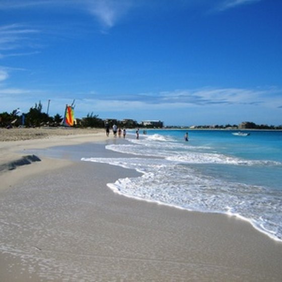 Sandy beaches on Nassau.