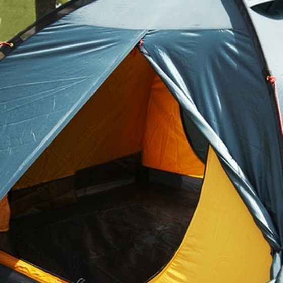 A dark-colored dome tent works best for winter camping.
