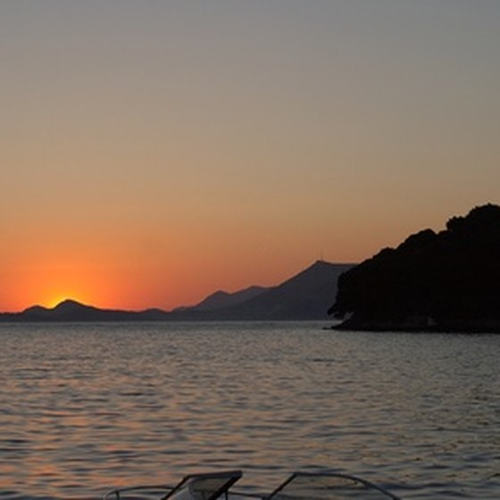A Croatian sunset is among the experiences of an Adriatic cruise.