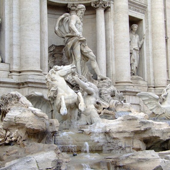 Visit the Trevi Fountain on a group tour of Italy.