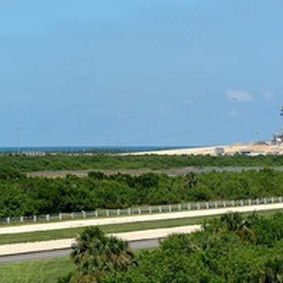 A view of the Cape Canaveral launch station.