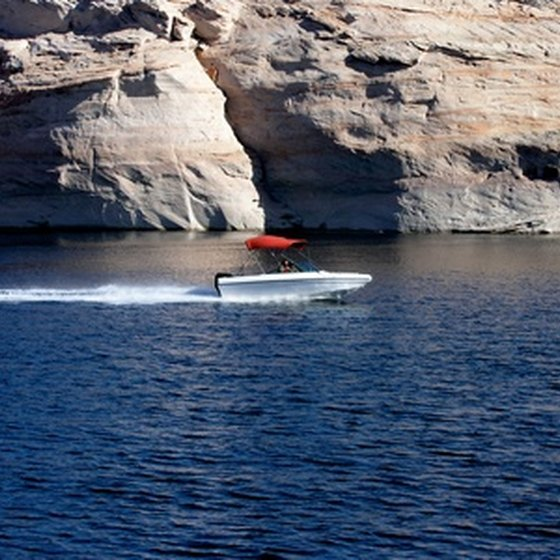 A boat on Lake Powell.