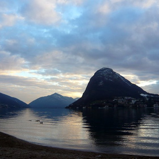 Lugano, Switzerland, is known for its majestic natural scenery.
