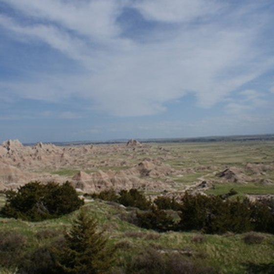 Golf courses in Rapid City are about an hour from Badlands National Park.