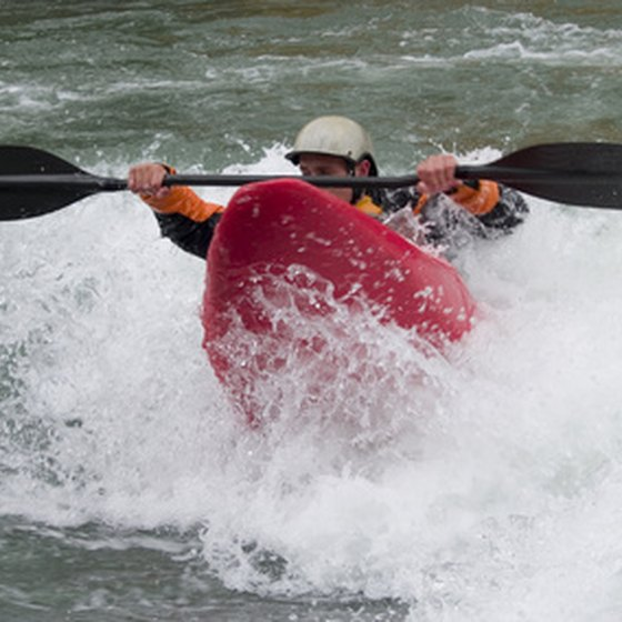 Ocoee River, Tennessee, is one of America's most popular whitewater kayaking locations.