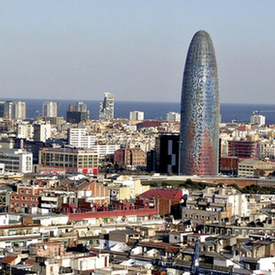 Barcelona's uinique cityscape offers impressive views.
