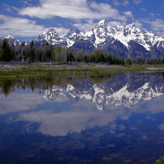 Guests at Jackson Lake Lodge can enjoy views of the Teton Range.
