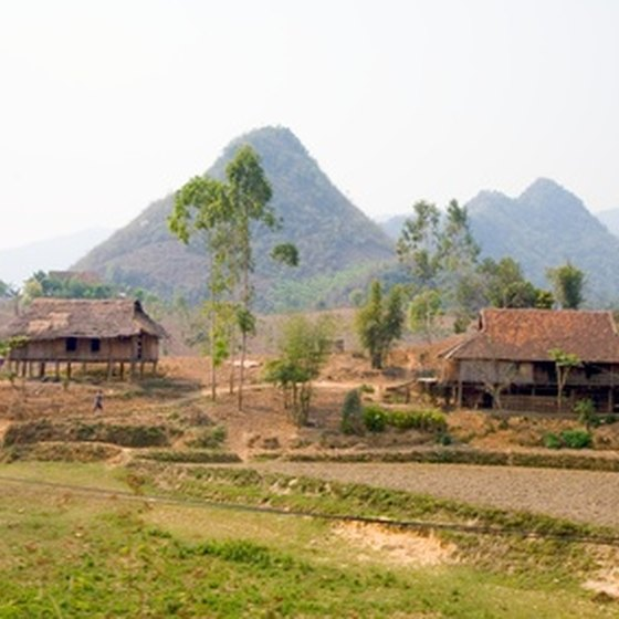 The Vietnamese countryside makes for a scenic budget vacation.