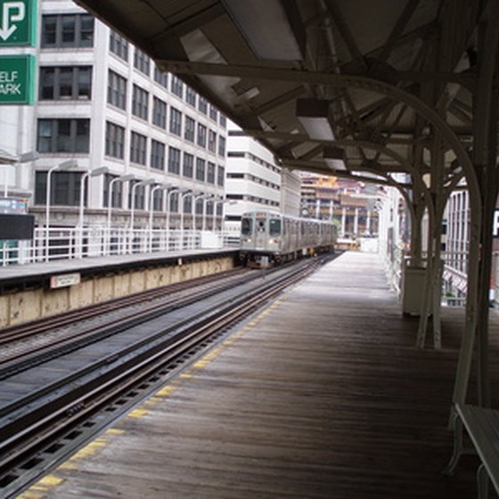 Chicago's famous elevated trains will put you within steps of Chase Tower.