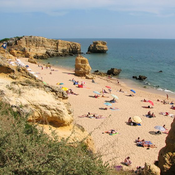 The Algarve has many beaches and coves.