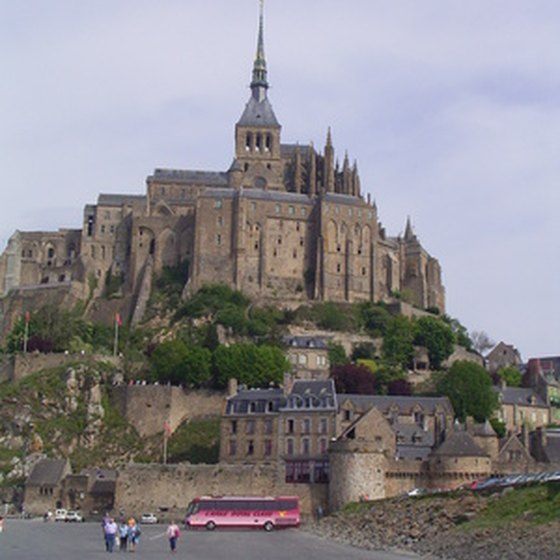 Mont Saint Michel--a masterpiece of monastic architecture of French and Italian influence.