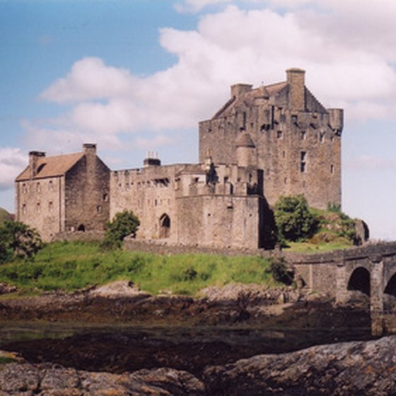 Castles are one of many delights on driving tours of Scotland.