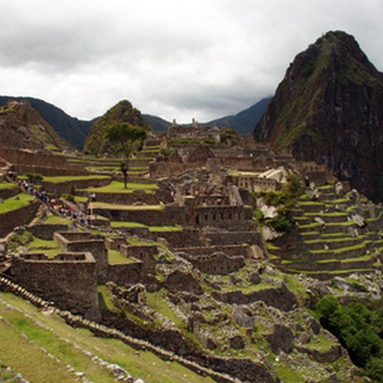 Visitors to Peru can travel by train to visit Machu Picchu.