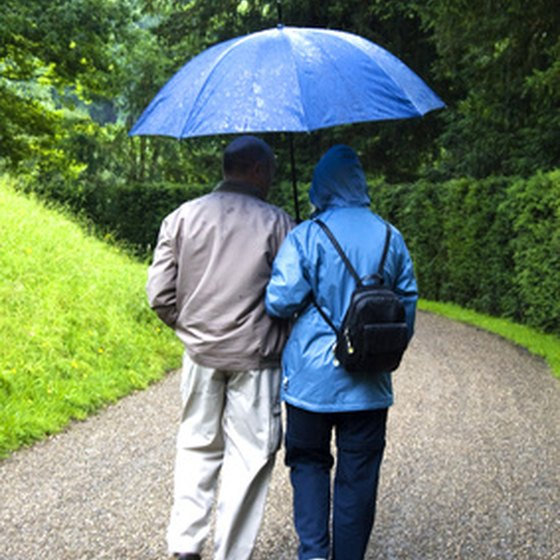 Consider the potentially rainy weather when traveling to Ireland.