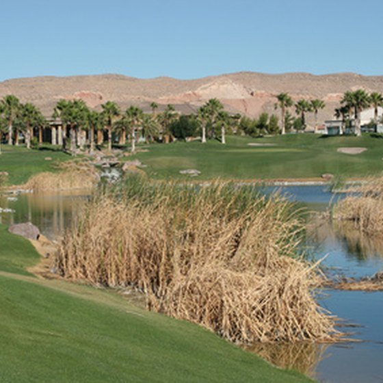 Many golf courses in Las Vegas are located close to the Strip.
