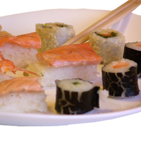 Sushi and sashimi are delicious Japanese cuisine treats.