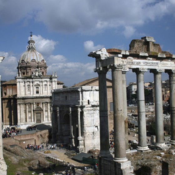 Many companies offer guided tours to the Roman Forum.