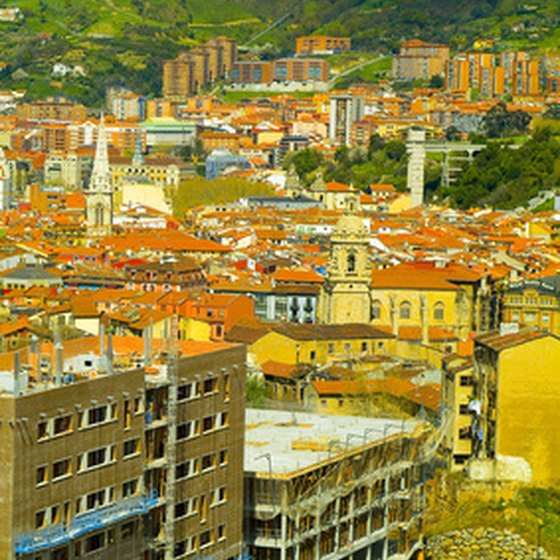 Bilbao, the largest city in Spain's Basque Country.