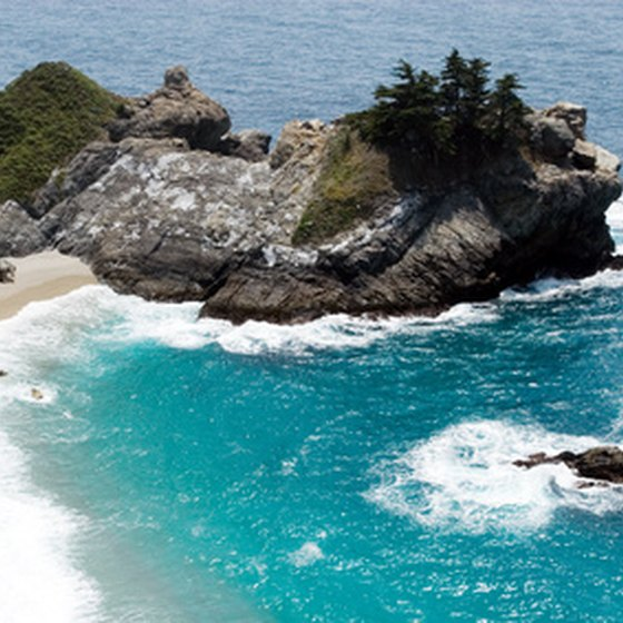 California's central coast offers well-maintained beaches and deep-blue waters.