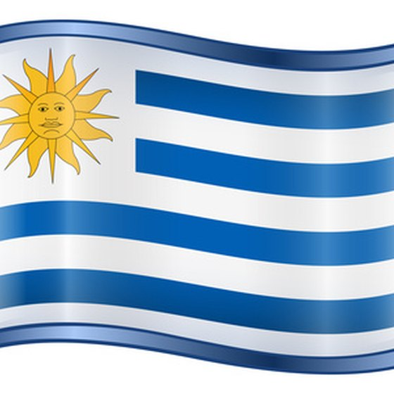 The flag of Uruguay