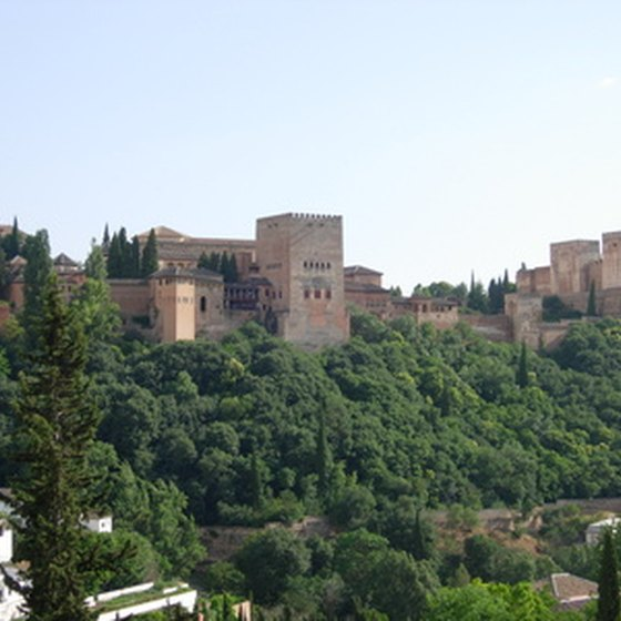 The Alhambra, an imposing fortress and palace complex in Granada, Spain.