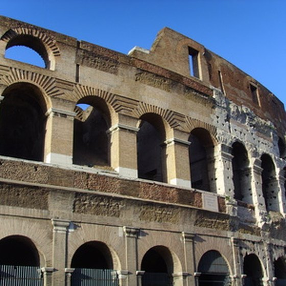 The Colosseum is a popular sight for travelers to Western Europe.