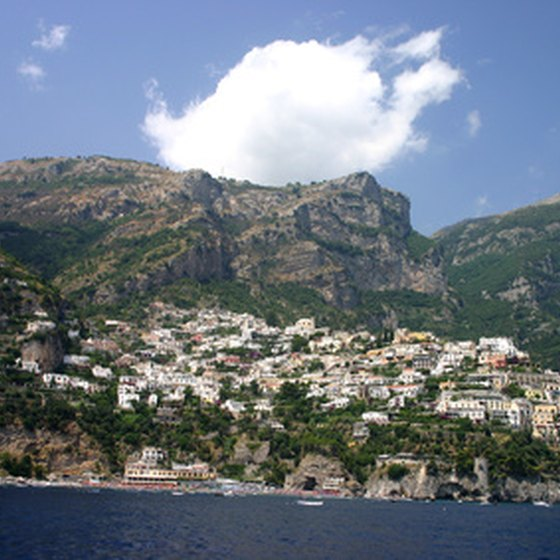 The scenic town of Positano, Italy is known for its fine wine and dinning, but also for world-class shopping.