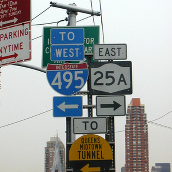 Street signs in Queens.
