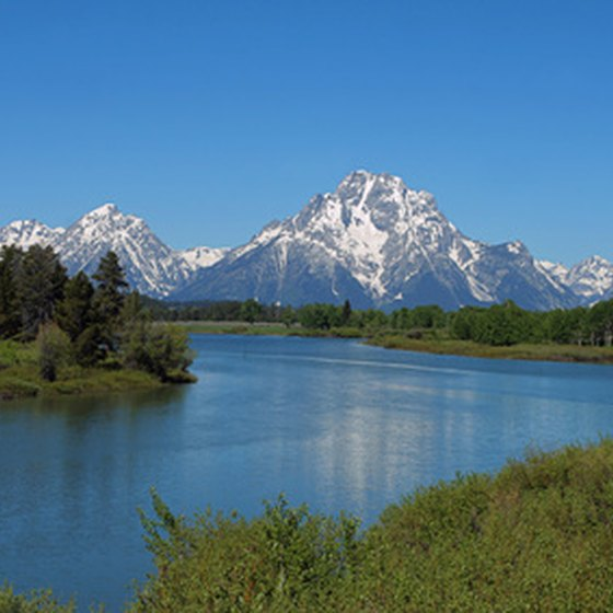 A lake in Grand Teton National Park.
