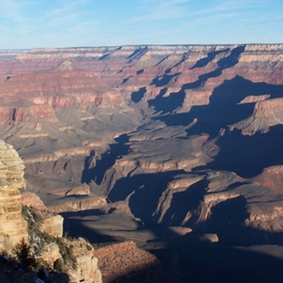 The Grand Canyon is a destination on an Amtrak vacation from Chicago.
