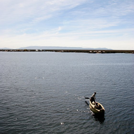 Traditional reed boat at Lake Titicaca