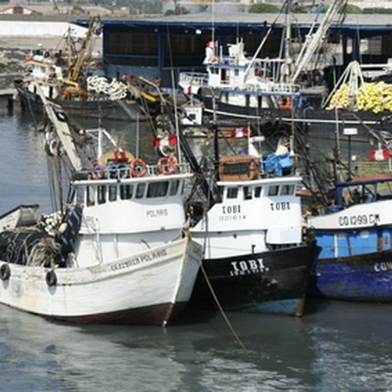 Chile's active ports bring in an abundance of seafood.