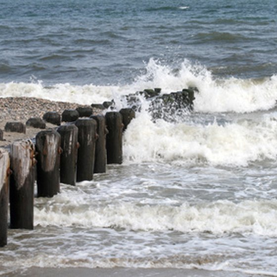 Several fishing piers are located throughout Ocean City, MD.