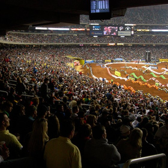 The Georga Dome hosts major sports events such as motorcycle racing.