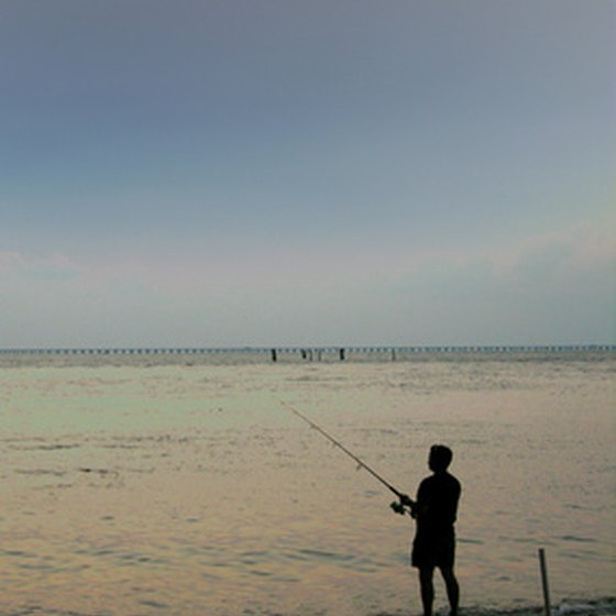 Fishing is a popular Texas Gulf Coast vacation activity.