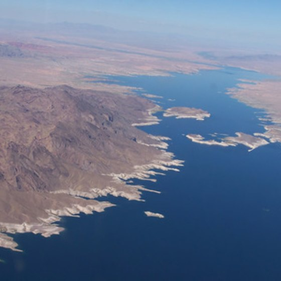 Lake Mead is the largest reservoir in the United States and a popular camping spot.