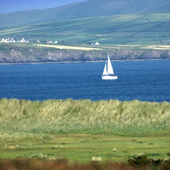 The Dingle Peninsula is noted for its green hills and blue seas.