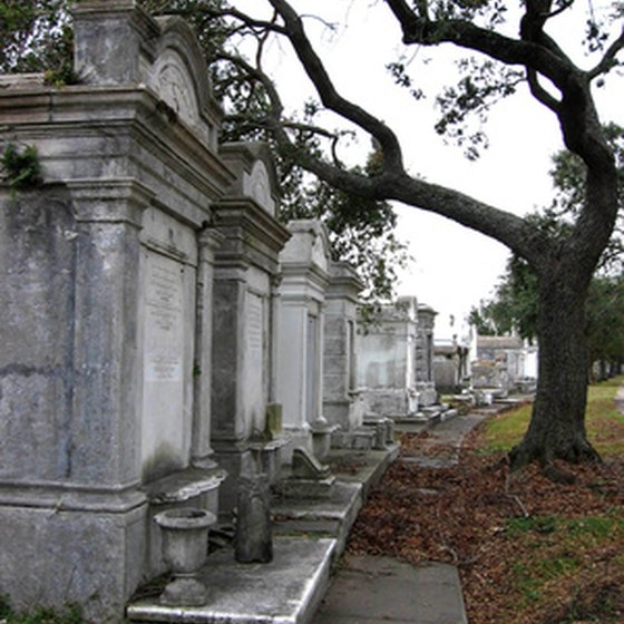 Cemetery walking tours are popular in New Orleans.