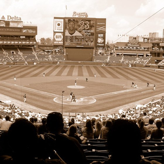 A view of Turner Field in Atlanta.