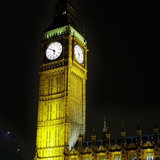 Big Ben is one of many sightseeing highlights in London, England.