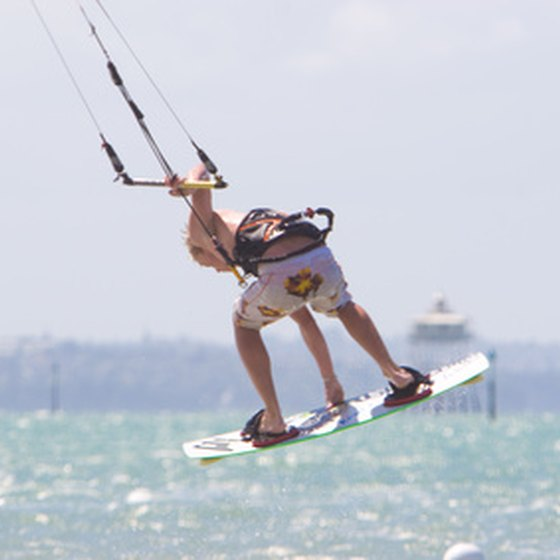 Kitesurfing is permitted at many of Dubai's public beaches.
