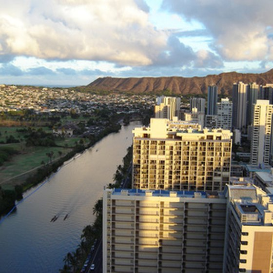 Diamond Head and the Ala Wai Canal