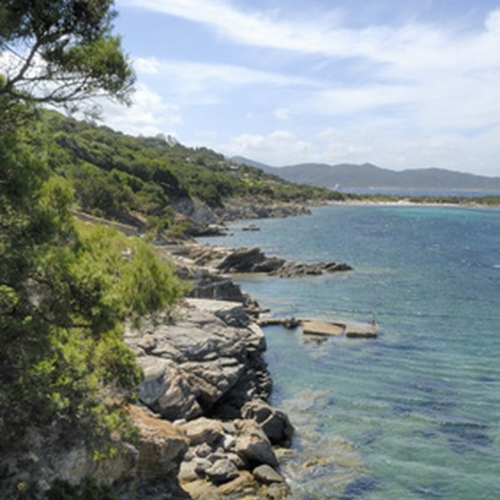 Sardinia beaches features cliffs and rocky coastlines.