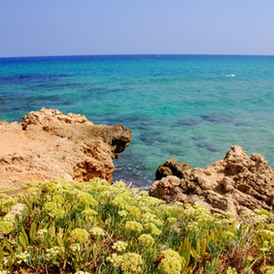 The rich blue waters of Crete