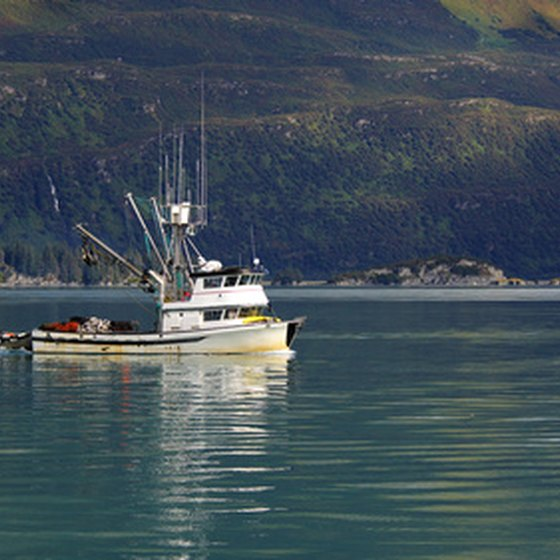 Chartered fishing trips in Alaska take anglers to the best fishing spots.