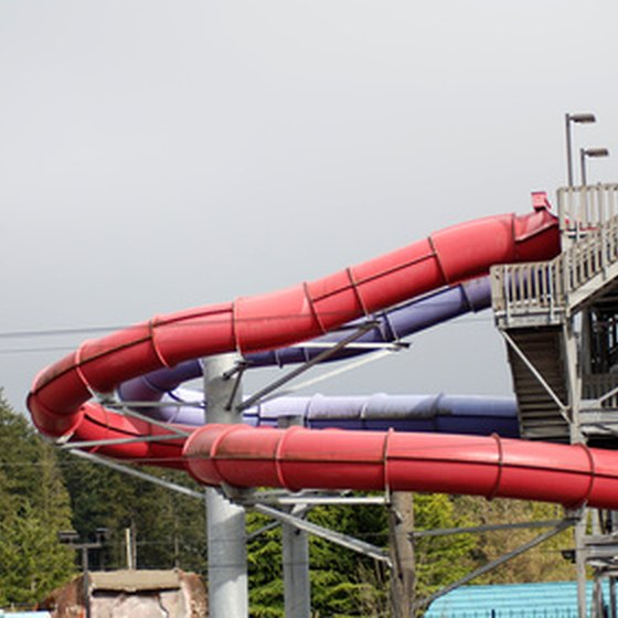 Indoor water slides help avoid bad weather in Missouri.